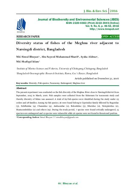 diversity-status-of-fishes-of-the-meghna-river-adjacent-to-narsingdi-district-bangladesh